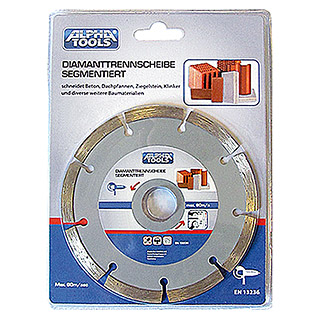Alpha Tools Disco de corte de diamante (Hormigón, Diámetro disco: 230 mm, Orificio: 22,23 mm)