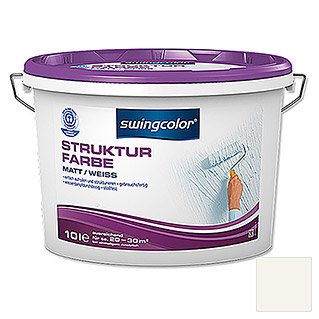 swingcolor Strukturfarbe (Weiß, 10 l, Matt)
