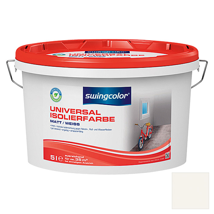 swingcolor Isolierfarbe Universal (Weiß, 5 l, Matt)