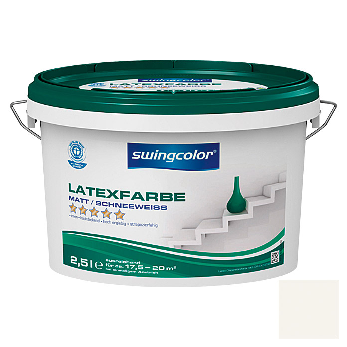 swingcolor Latexfarbe (Schneeweiß, 2,5 l, Matt) - 6210.D2,5.0