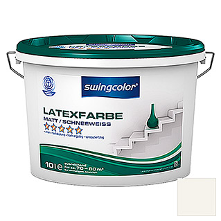 swingcolor Latexfarbe (Schneeweiß, 10 l, Matt)