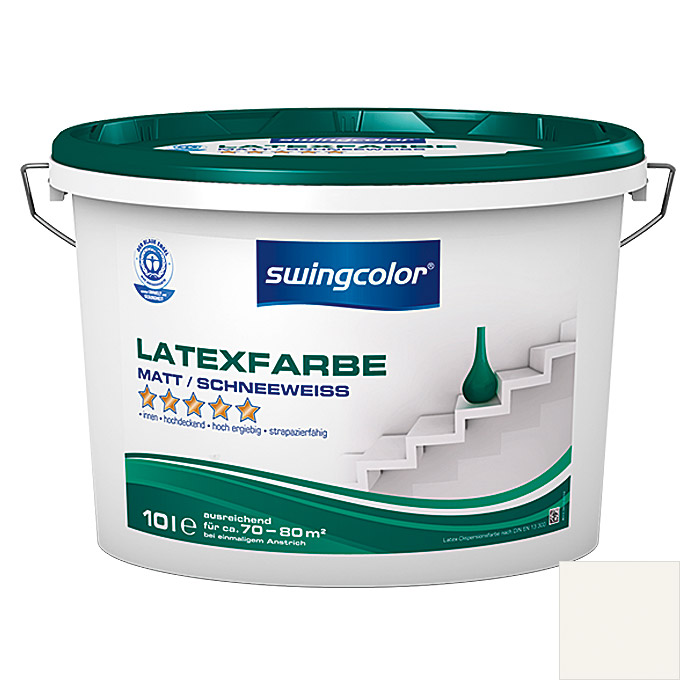 swingcolor latexfarbe schneewei 10 l matt bauhaus
