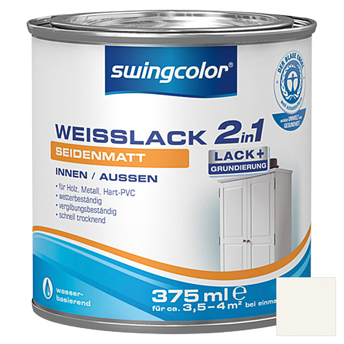 swingcolor 2in1 Weißlack  (375 ml, Seidenmatt)