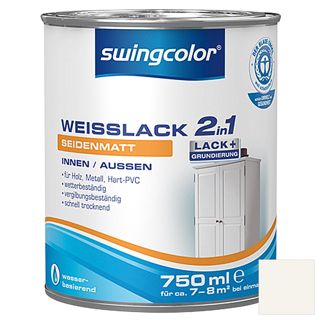 swingcolor 2in1 Weißlack  (750 ml, Seidenmatt)