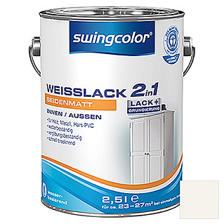 swingcolor 2in1 Weißlack  (2,5 l, Seidenmatt)