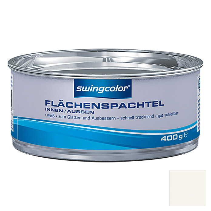 FLAECHENSPACHTEL WB WEISS 400 g         SWINGCOLOR