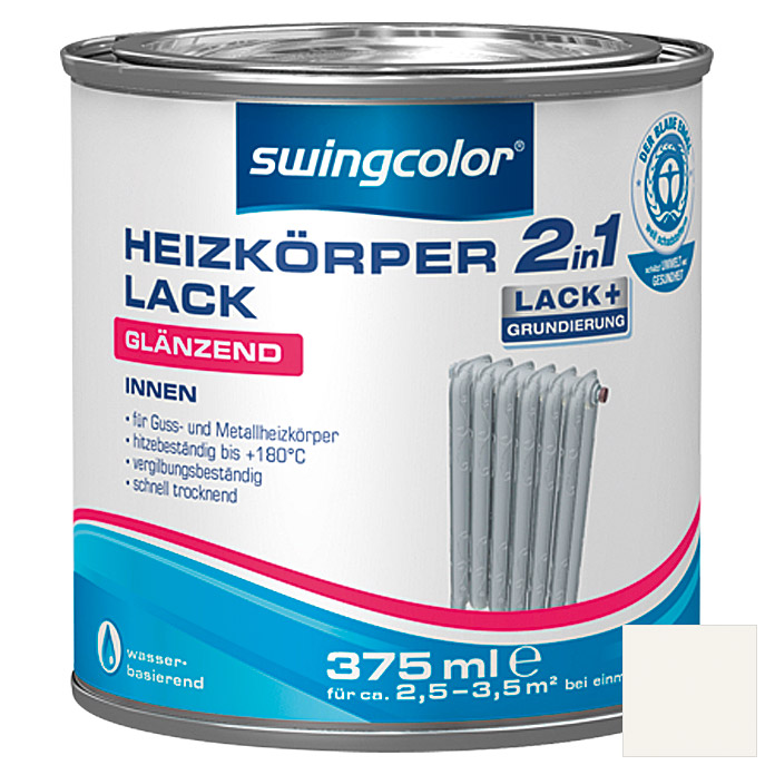 HEIZKOERPERLACK 2IN1WB 375 ml GLZ WEISS SWINGCOLOR