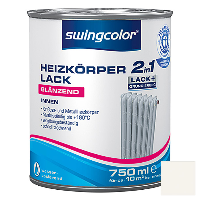 HEIZKOERPERLACK 2IN1WB 750 ml WEISS     SWINGCOLOR