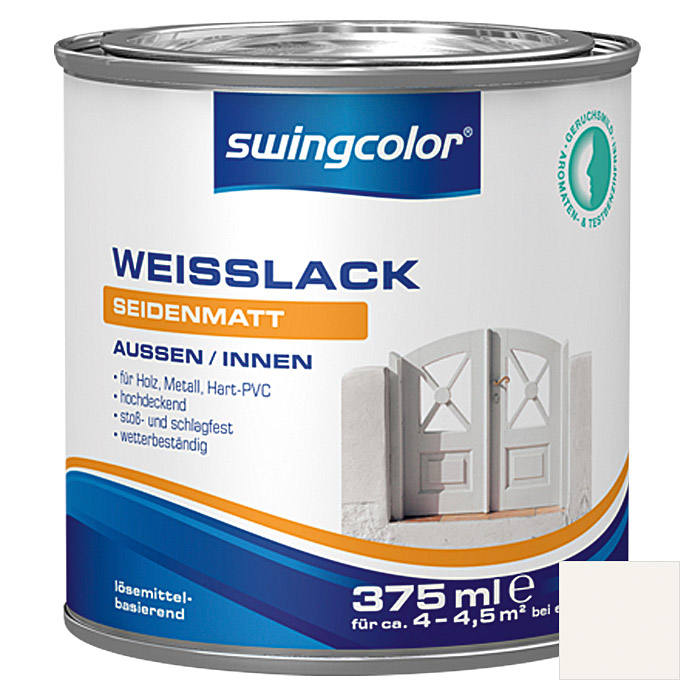 swingcolor Weißlack  (375 ml, Seidenmatt)
