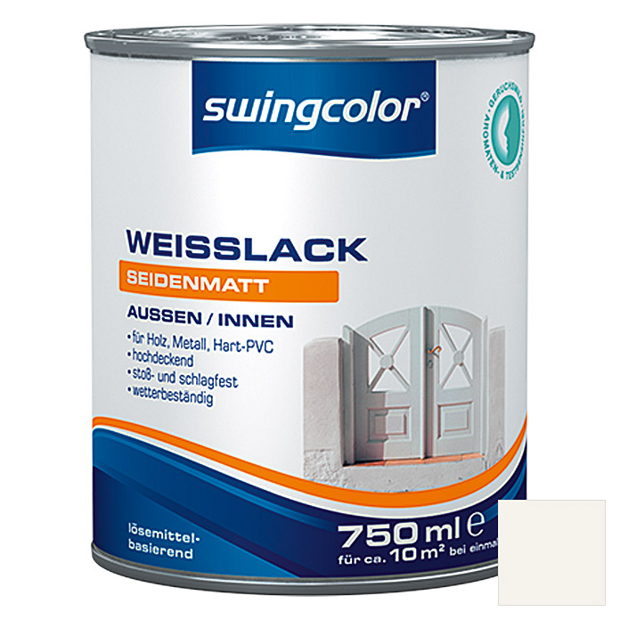swingcolor Weißlack  (750 ml, Seidenmatt)