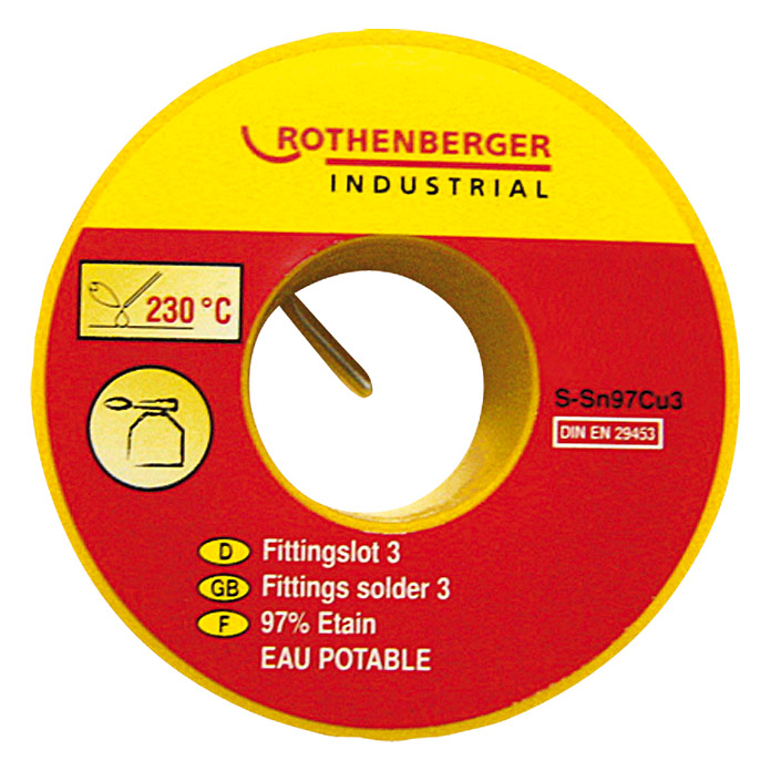 Rothenberger Fittingslot 3 Sn97Cu3 (Durchmesser: 3 mm, 100 g)