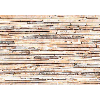 Komar Fototapete Whitewashed Wood (8-tlg., 368 x 254 cm)