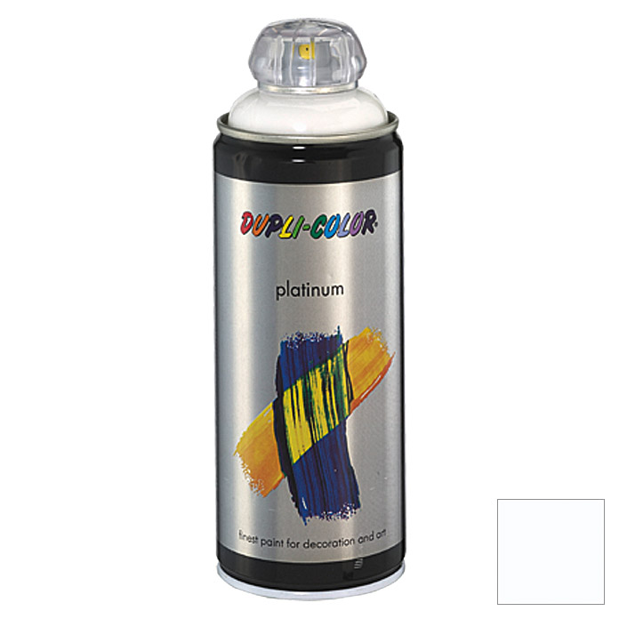 Dupli-Color Buntlack-Spray platinum RAL 9010 (Reinweiß, 400 ml)