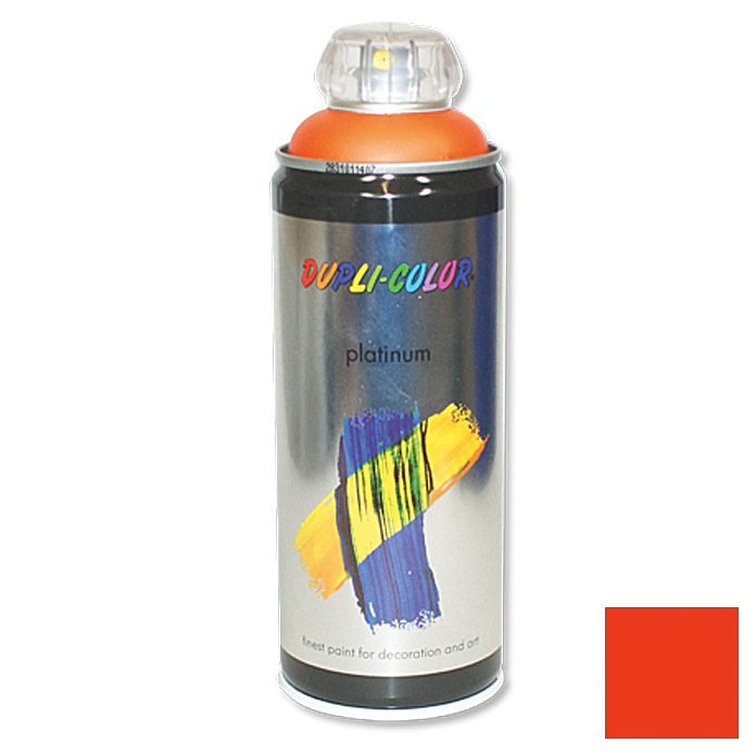 Dupli-Color Buntlack-Spray platinum RAL 2009 (Verkehrsorange, 400 ml, Seidenmatt)