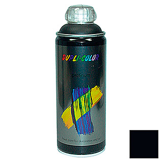 Dupli-Color Buntlack-Spray platinum RAL 9005 (Tiefschwarz, 400 ml, Seidenmatt)