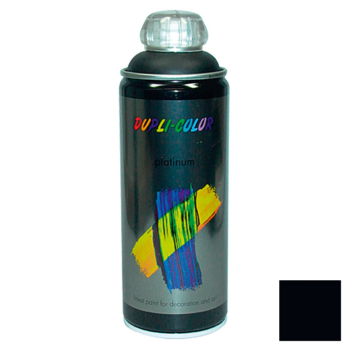 Dupli-Color Buntlack-Spray platinum RAL 9005 (Tiefschwarz, 400 ml)
