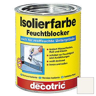 decotric Isolierfarbe Feuchtblocker (Weiß, 750 ml)
