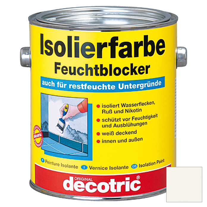 decotric Isolierfarbe Feuchtblocker (Weiß, 2 l)
