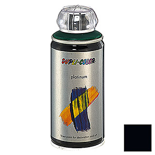 Dupli-Color Buntlack-Spray platinum RAL 9005 (Tiefschwarz, 150 ml, Seidenmatt)