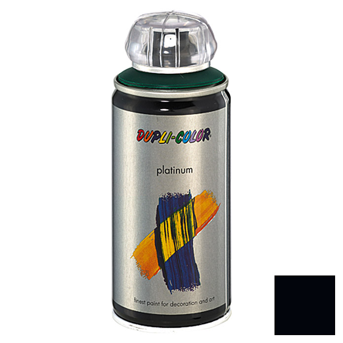 Dupli-Color Buntlack-Spray platinum RAL 9005 (Tiefschwarz, 150 ml)