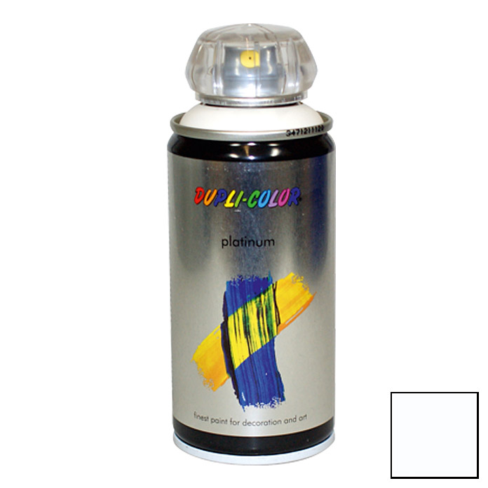 Dupli-Color Buntlack-Spray platinum RAL 9010 (Reinweiß, 150 ml)