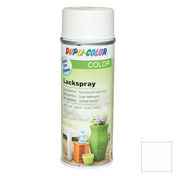 Dupli-Color Color Lackspray RAL 9010 (Reinweiß, Matt, 400 ml)