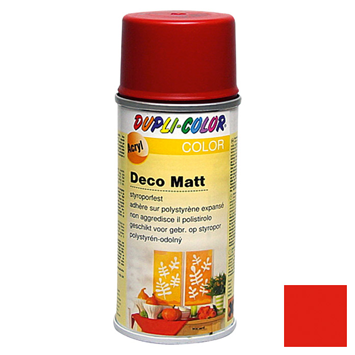 Dupli-Color COLOR Deco Matt Acryllackspray RAL 3000 (Feuerrot, 150 ml)