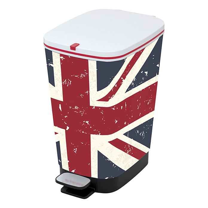 kis treteimer chic union jack 25 l rot wei blau eckig kunststoff bauhaus. Black Bedroom Furniture Sets. Home Design Ideas