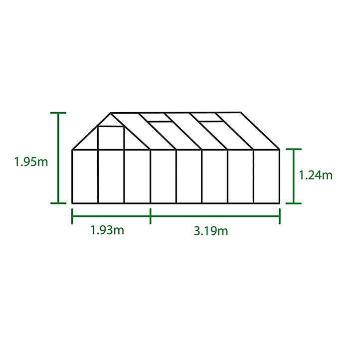 GWH.POPULAR 106     6,2m² m/3mm GRÜN