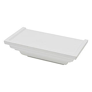 Duraline Estante de pared Crown (12,5 x 25 x 7,5 cm, Carga soportada: 10 kg, Blanco)