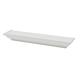 Duraline Estante de pared Crown (12,5 x 60 x 7,5 cm, Carga soportada: 10 kg, Blanco)