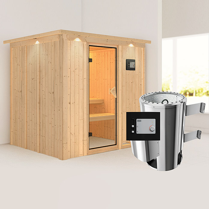karibu 230 v sauna sparset daria mit plug play ofen 3 6. Black Bedroom Furniture Sets. Home Design Ideas