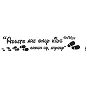 DEKOSTICKER ADULTS  ARE ONLY KIDS14X70cm