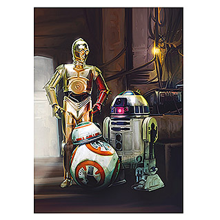 Komar Star Wars Fototapete Three Droids (4-tlg., 184 x 254 cm)