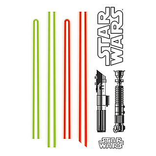 Komar Star Wars Wandtattoo (Light Saber, 50 x 70 cm)