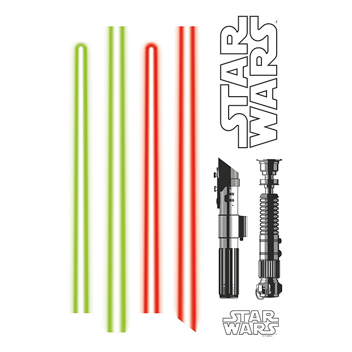 Komar Star Wars Wandtattoo (Light Saber, 50 x 70 cm) -