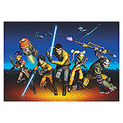 Komar Star Wars Fototapete Rebels Run (8-tlg., 368 x 254 cm)