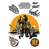 DECOSTICKER 50X70cm STAR WARS RESISTANCE