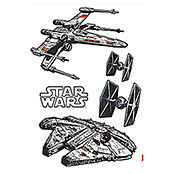 DECOSTICKER 100X70cmSTAR WARS SPACESHIP