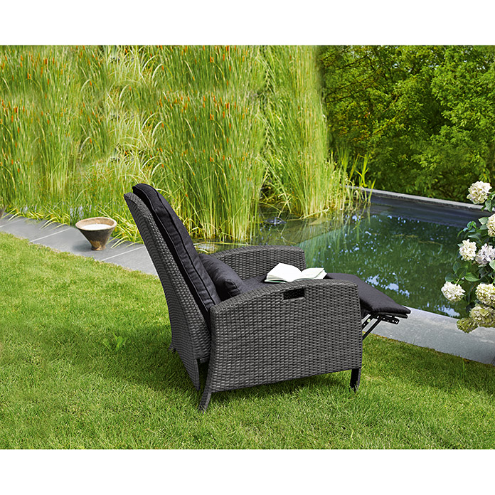 sunfun neila liegestuhl breite 74 cm polyrattan bauhaus. Black Bedroom Furniture Sets. Home Design Ideas