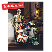FOTOTAP. 4-TLG. STARWARS THREE DROIDS