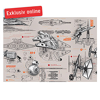 Komar Star Wars Fototapete Blueprints