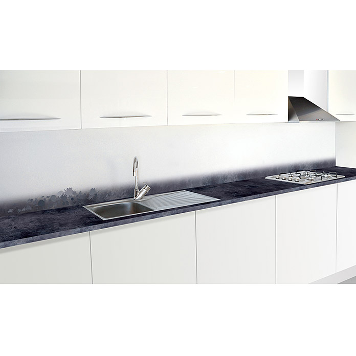 Resopal Kuchenruckwand Steel Bloom 305 X 62 Cm Starke 15 4 Mm