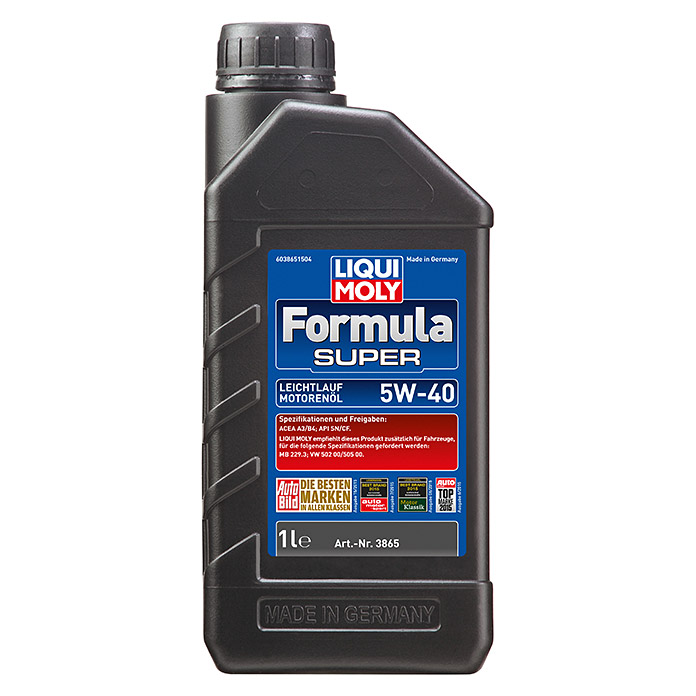 liqui moly formula super motor l 5w 40 a3 b4 1 l 2740 motorenoele marke bdda. Black Bedroom Furniture Sets. Home Design Ideas
