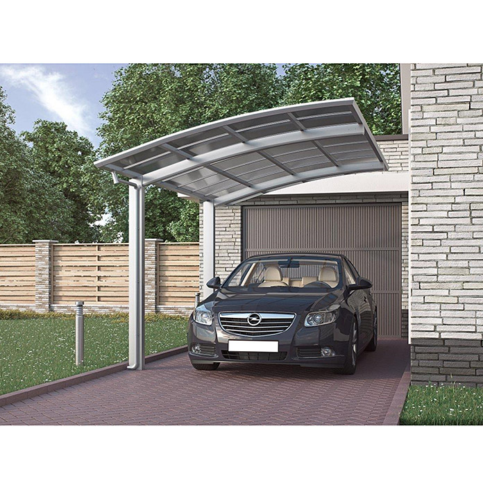 ximax carport portoforte 80 4 9 x 2 7 m einfahrtsh he max 2 2 m edelstahloptik schneelast. Black Bedroom Furniture Sets. Home Design Ideas