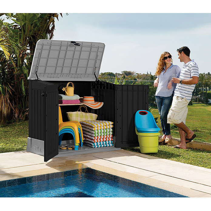Keter Baúl Store it out Midi (74 x 130 x 110 cm, Volumen espacial: 0,8 m³)