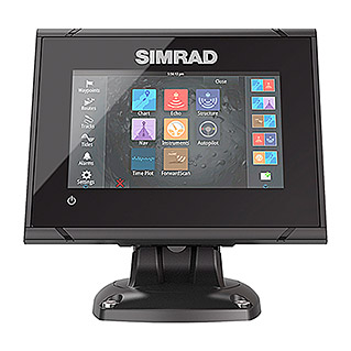 Simrad Fishfinder & GPS-Kartenplotter Go5 XSE CHIRP (Mid/High/DownScan HDI Geber, Bildschirmtyp: 5″/127 mm TFT Super Wide View)