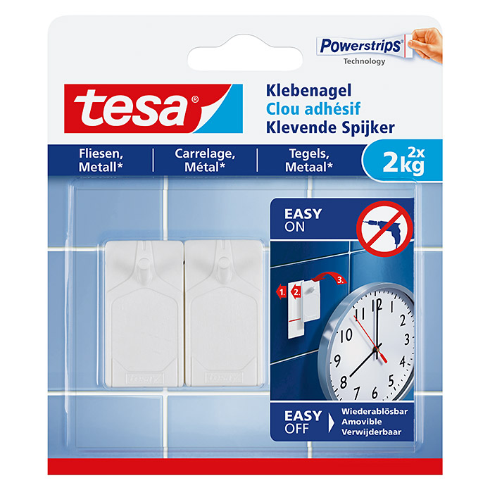 Tesa Klebenagel  (Belastbarkeit: 2 kg)