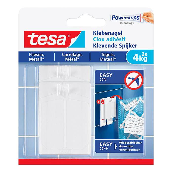 Tesa Klebenagel  (Belastbarkeit: 4 kg)