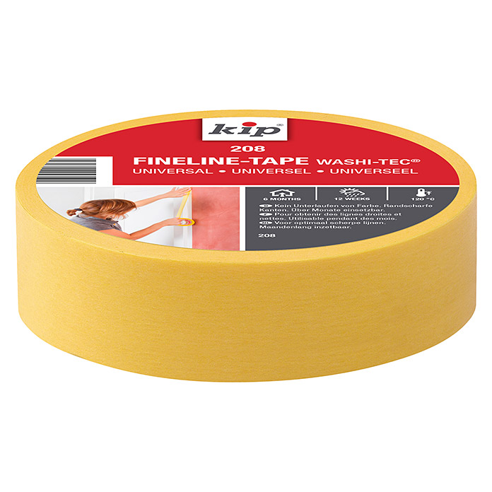 FINELINE-TAPE WASHI-UNI. 208 36 mm x 50mKIP